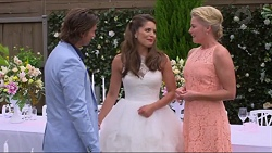 Brad Willis, Paige Novak, Lauren Turner in Neighbours Episode 7297