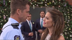 Mark Brennan, Aaron Brennan, Tyler Brennan, Paige Novak in Neighbours Episode 7298