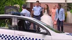 Mark Brennan, Paige Novak, Lauren Turner, Brad Willis in Neighbours Episode 7298