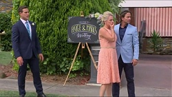 Aaron Brennan, Lauren Turner, Brad Willis in Neighbours Episode 7298
