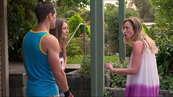 Aaron Brennan, Piper Willis, Sonya Mitchell in Neighbours Episode 7300