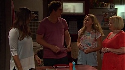 Amy Williams, Kyle Canning, Xanthe Canning, Sheila Canning in Neighbours Episode 7300