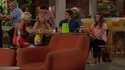 Sheila Canning, Xanthe Canning, Kyle Canning, Amy Williams in Neighbours Episode 7300