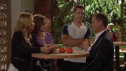 Steph Scully, Lyn Scully, Josh Willis, Paul Robinson in Neighbours Episode 7302