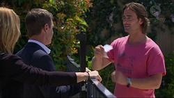 Steph Scully, Paul Robinson, Brad Willis in Neighbours Episode 7302