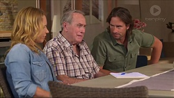 Steph Scully, Doug Willis, Brad Willis in Neighbours Episode 7302