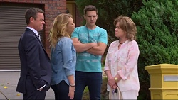 Paul Robinson, Steph Scully, Josh Willis, Lyn Scully in Neighbours Episode 7302