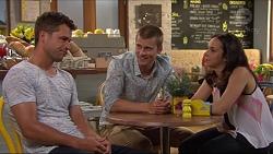 Mark Brennan, Daniel Robinson, Imogen Willis in Neighbours Episode 7304