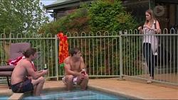 Tyler Brennan, Aaron Brennan, Courtney Grixti in Neighbours Episode 7305