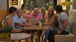 Josh Willis, Doug Willis, Lou Carpenter, Lauren Turner, Brad Willis in Neighbours Episode 7308