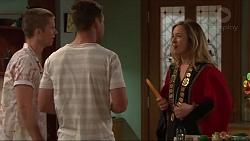 Daniel Robinson, Mark Brennan, Sonya Mitchell in Neighbours Episode 7309