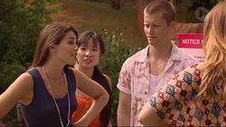 Paige Novak, Aurora Green, Daniel Robinson, Sonya Mitchell in Neighbours Episode 7309