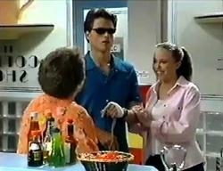 Marlene Kratz, Rohan Kendrick, Libby Kennedy in Neighbours Episode 2853