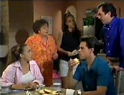 Libby Kennedy, Marlene Kratz, Sarah Beaumont, Rohan Kendrick, Karl Kennedy in Neighbours Episode 2853