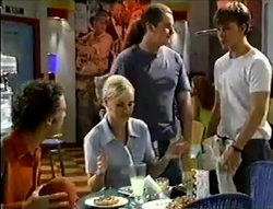 Ben Atkins, Lisa Elliot, Toadie Rebecchi, Billy Kennedy in Neighbours Episode 2855