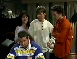 Susan Kennedy, Billy Kennedy, Ben Atkins, Toadie Rebecchi in Neighbours Episode 2855
