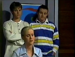 Billy Kennedy, Toadie Rebecchi, Lisa Elliot in Neighbours Episode 2855