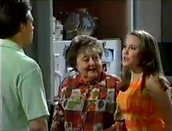 Rohan Kendrick, Marlene Kratz, Libby Kennedy in Neighbours Episode 2856