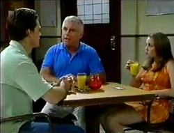Rohan Kendrick, Lou Carpenter, Libby Kennedy in Neighbours Episode 2856