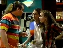 Toadie Rebecchi, Hannah Martin, Debbie Martin in Neighbours Episode 2888