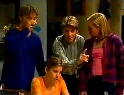 Billy Kennedy, Anne Wilkinson, Lance Wilkinson, Amy Greenwood in Neighbours Episode 2955