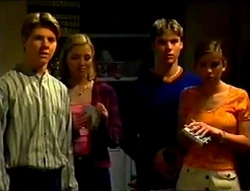 Lance Wilkinson, Amy Greenwood, Billy Kennedy, Anne Wilkinson in Neighbours Episode 2955