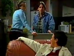 Libby Kennedy, Darren Stark, Martin Pike in Neighbours Episode 2955