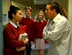 Cara Winfield, Lance Wilkinson, Amy Greenwood, Toadie Rebecchi in Neighbours Episode 2975