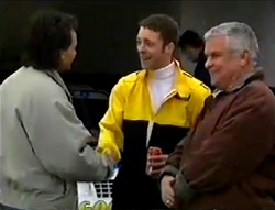 Barry Sheene, Ben Atkins, Lou Carpenter in Neighbours Episode 2978