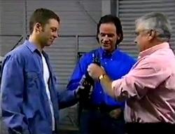 Ben Atkins, Barry Sheene, Lou Carpenter in Neighbours Episode 2978