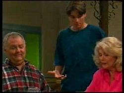 Harold Bishop, Paul McClain, Madge Bishop in Neighbours Episode 3076