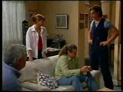 Lou Carpenter, Karen Oldman, Toadie Rebecchi, Drew Kirk in Neighbours Episode 3076