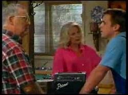 Harold Bishop, Madge Bishop, Allan Carter in Neighbours Episode 3076