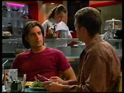 Toadie Rebecchi, Drew Kirk, Ben Atkins in Neighbours Episode 3076