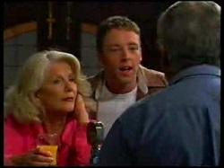 Madge Bishop, Ben Atkins, Lou Carpenter in Neighbours Episode 3076