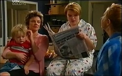 Oscar Scully, Lyn Scully, Bree Timmins, Janelle Timmins in Neighbours Episode 4725