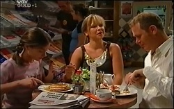 Summer Hoyland, Steph Scully, Max Hoyland in Neighbours Episode 4725