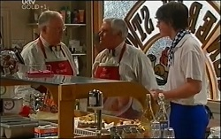 Harold Bishop, Lou Carpenter, Greg in Neighbours Episode 4725