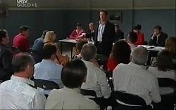 Tony Corbett, Karl Kennedy, Harold Bishop, Paul Robinson, Councillor Johnston, Liljana Bishop, Lou Carpenter, David Bishop in Neighbours Episode 4726