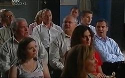 Lou Carpenter, Tony Corbett, Harold Bishop, Toadie Rebecchi, Liljana Bishop, Karl Kennedy in Neighbours Episode 4726