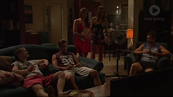 Daniel Robinson, Tyler Brennan, Paige Novak, Courtney Grixti, Mark Brennan in Neighbours Episode 7313