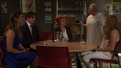 Amy Williams, Kyle Canning, Juliet Worth, Sheila Canning, Xanthe Canning in Neighbours Episode 7315
