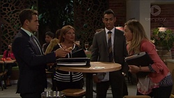 Aaron Brennan, Terese Willis, Tom Quill, Sonya Mitchell in Neighbours Episode 7318