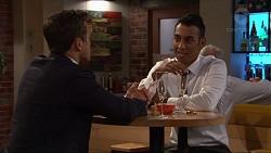 Aaron Brennan, Tom Quill in Neighbours Episode 7318