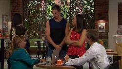Terese Willis, Tyler Brennan, Imogen Willis, Daniel Robinson in Neighbours Episode 7319