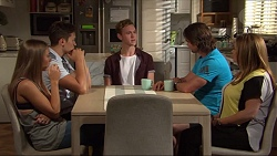 Piper Willis, Josh Willis, Brodie Chaswick, Brad Willis, Terese Willis in Neighbours Episode 7320