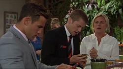 Aaron Brennan, Daniel Robinson, Lauren Turner in Neighbours Episode 7321