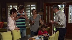 Susan Kennedy, Kyle Canning, Amy Williams, Jimmy Williams, Karl Kennedy in Neighbours Episode 7322