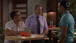 Aaron Brennan, Toadie Rebecchi, Tom Quill in Neighbours Episode 7324