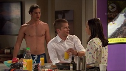 Tyler Brennan, Daniel Robinson, Imogen Willis in Neighbours Episode 7325